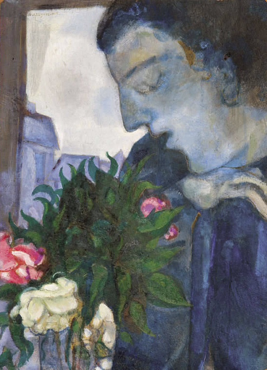 Marc Chagall. Self-portrait in profile