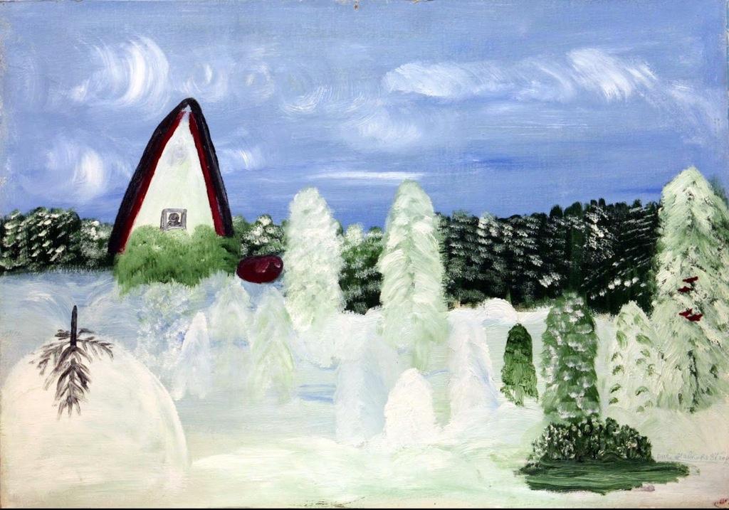 Love Mikhailovna Maikova. Obelisk in winter