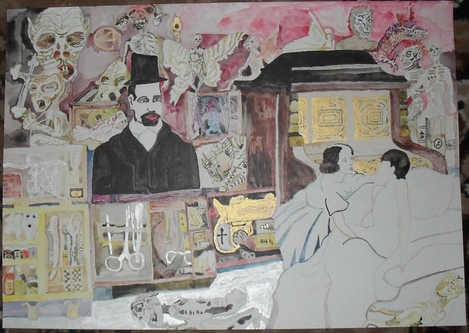 """Василий Береговой. Иллюстрация к книге Рик Янси """"Монстролог""""."""