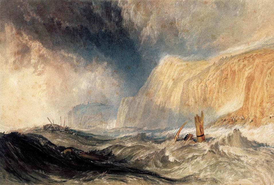 Joseph Mallord William Turner. The shipwreck off Hastings