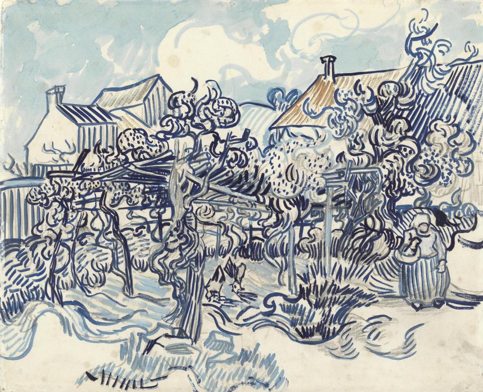 Винсент Ван Гог. Старый виноградник и крестьянка