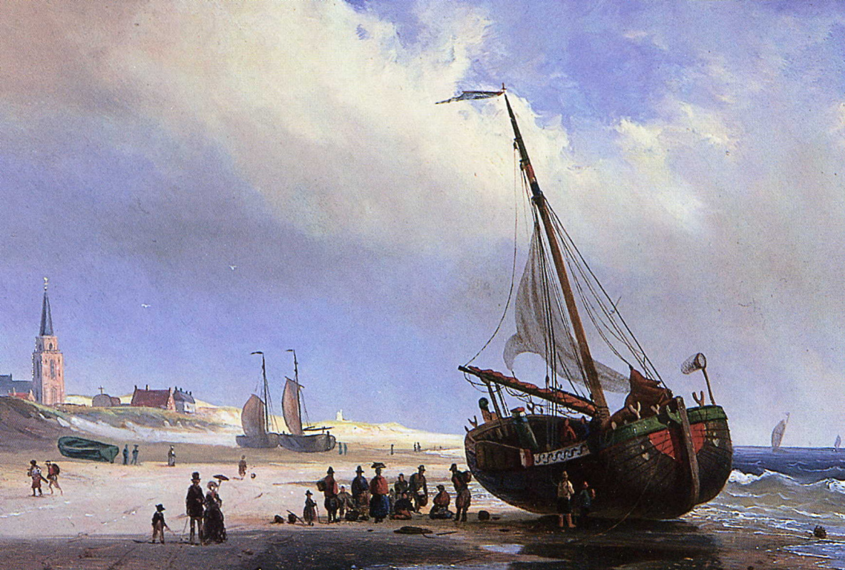 Willem Gruuter. View of the beach
