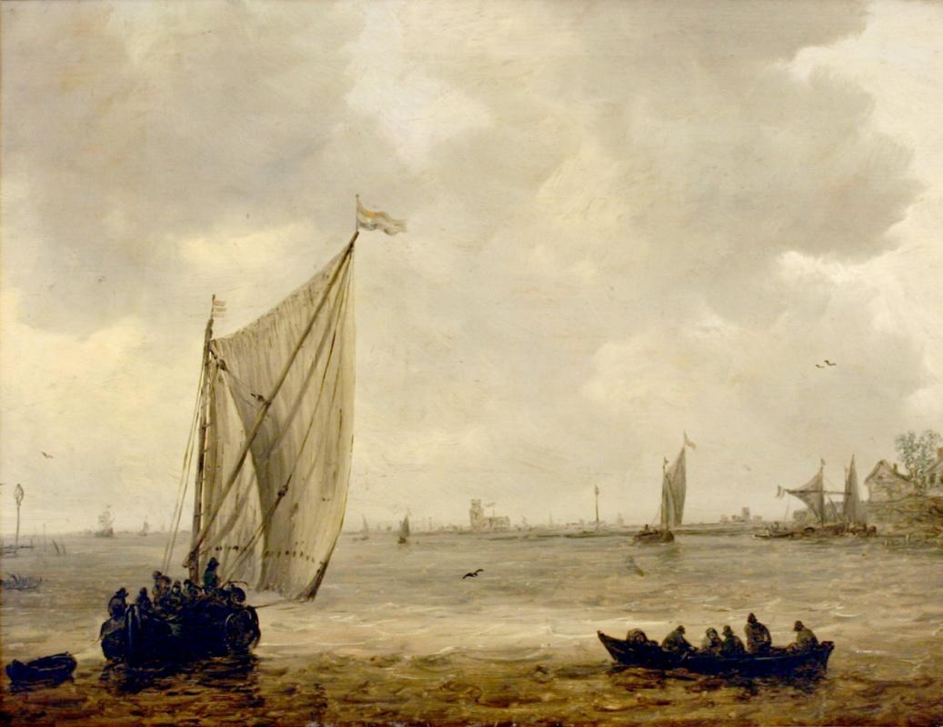 Jan van Goyen. The view from the old Maas in Dordrecht
