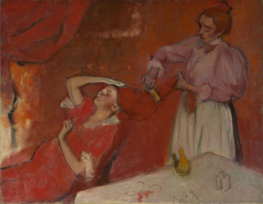 Edgar Degas. Combing hair (Hair)
