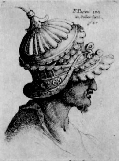 Венцель Холлар. Голова в шлеме
