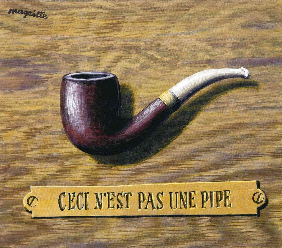 René Magritte. The treachery of images (This is not a pipe) II
