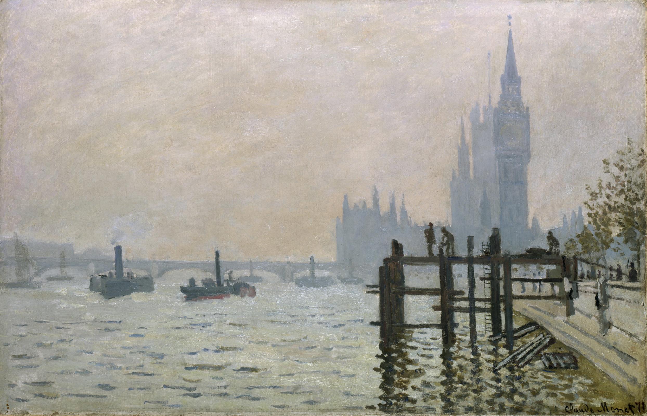 Клод Моне. Темза в Вестминстере