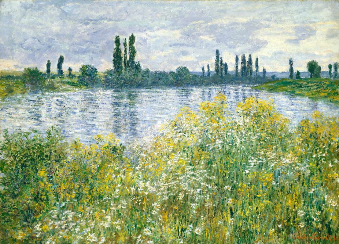 Claude Monet. The banks of the Seine at Vétheuil