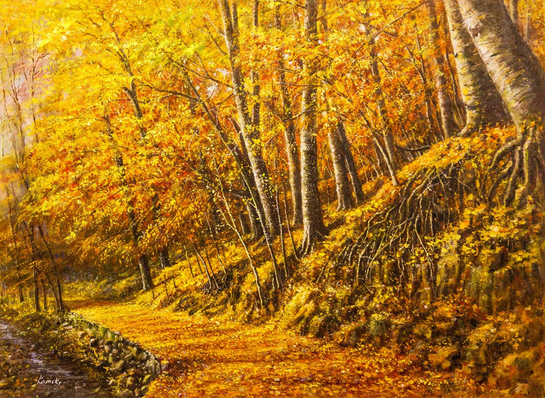 Savely Kamsky. Forest in autumn colors