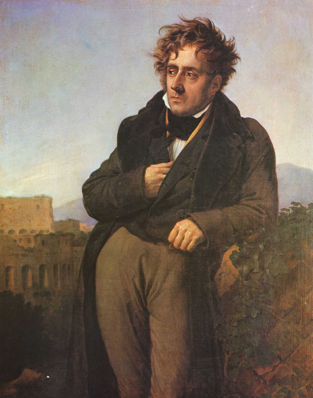 Anne-Louis Girode de Russi-Triosone. Portrait Of Chateaubriand