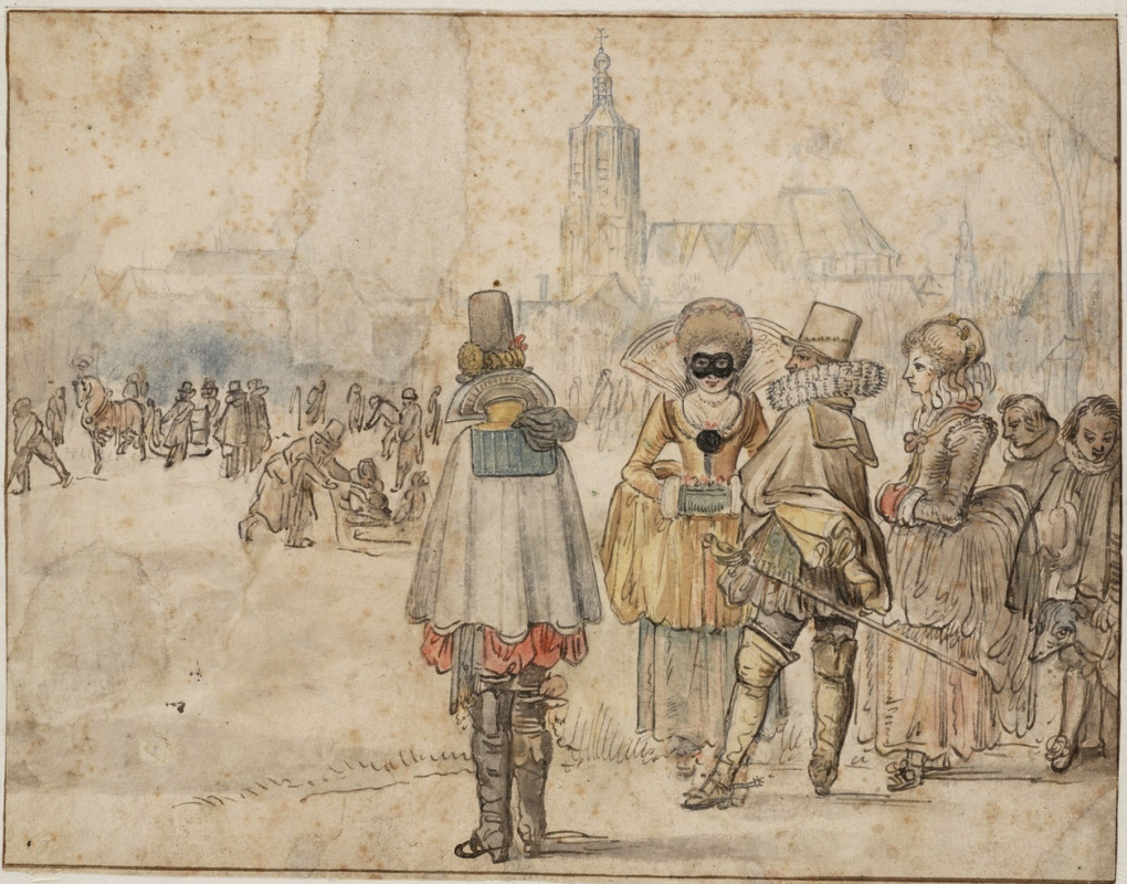 Hendrik Avercamp. At the rink in the Hague