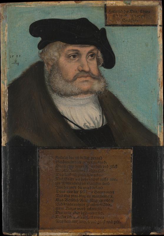 Lucas Cranach the Elder. Elector of Saxony Frederick III
