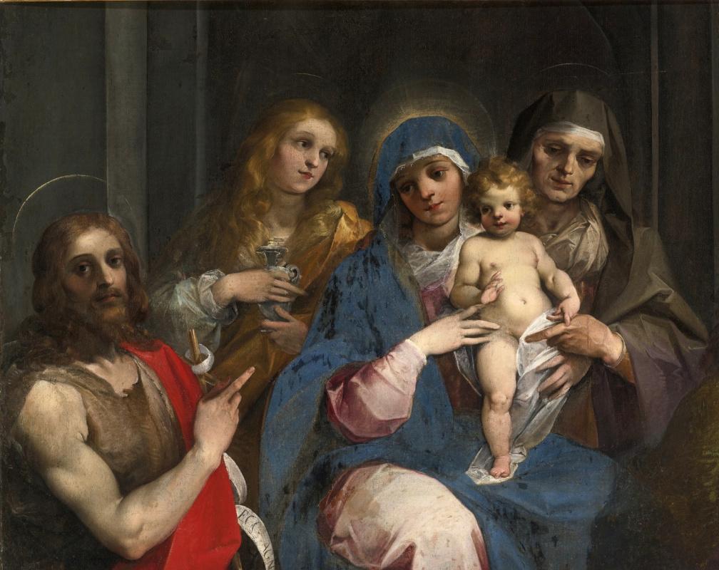 Cesari Giuseppe (Cavalier d'Arpino). Madonna and Child with Saints.