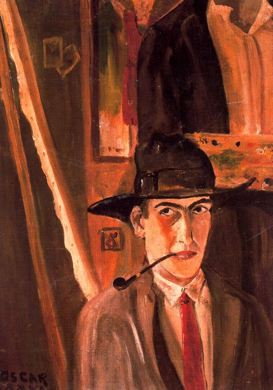 Oscar Dominguez. The man in the hat with a pipe