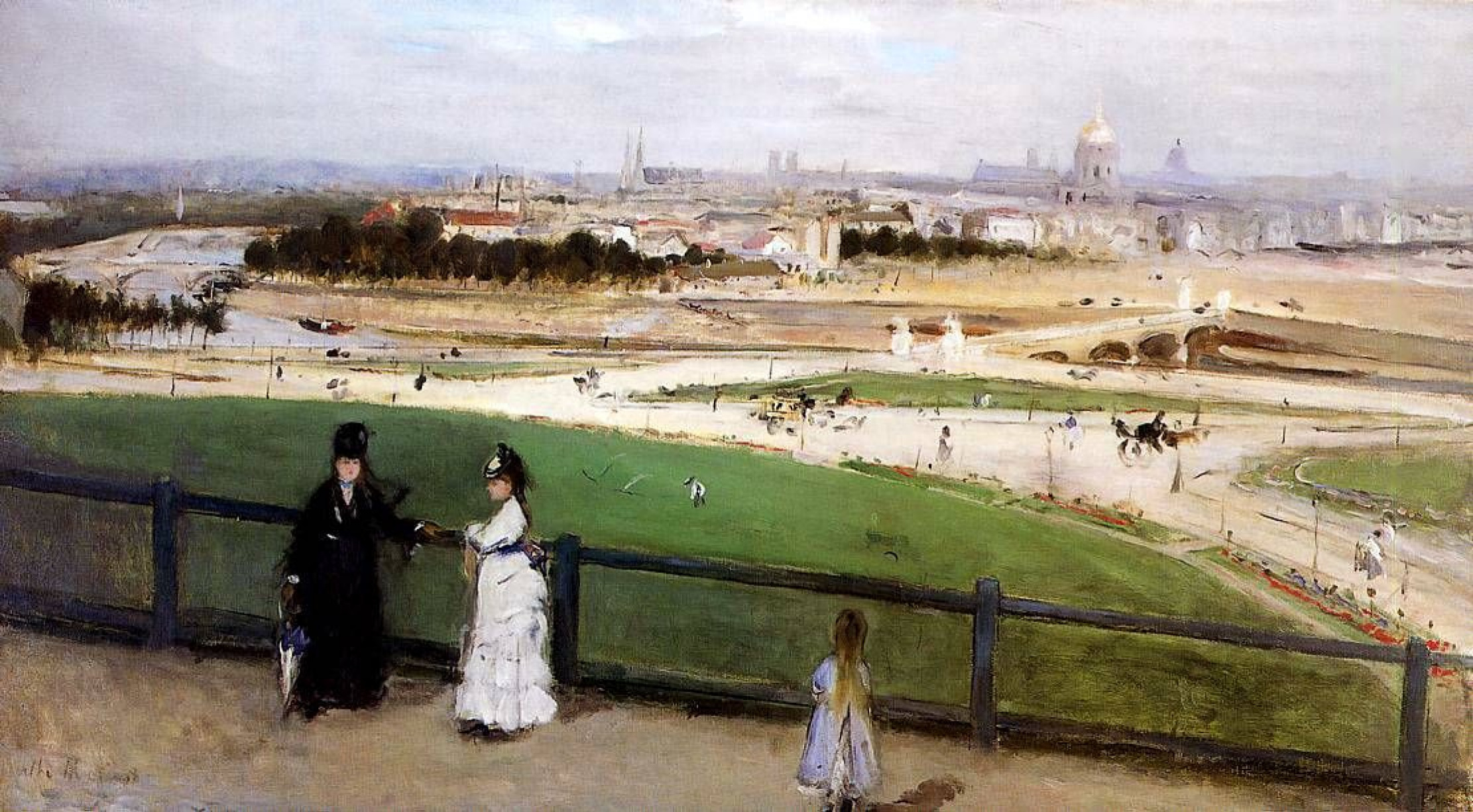 Berthe Morisot. View of Paris from the Trocadéro