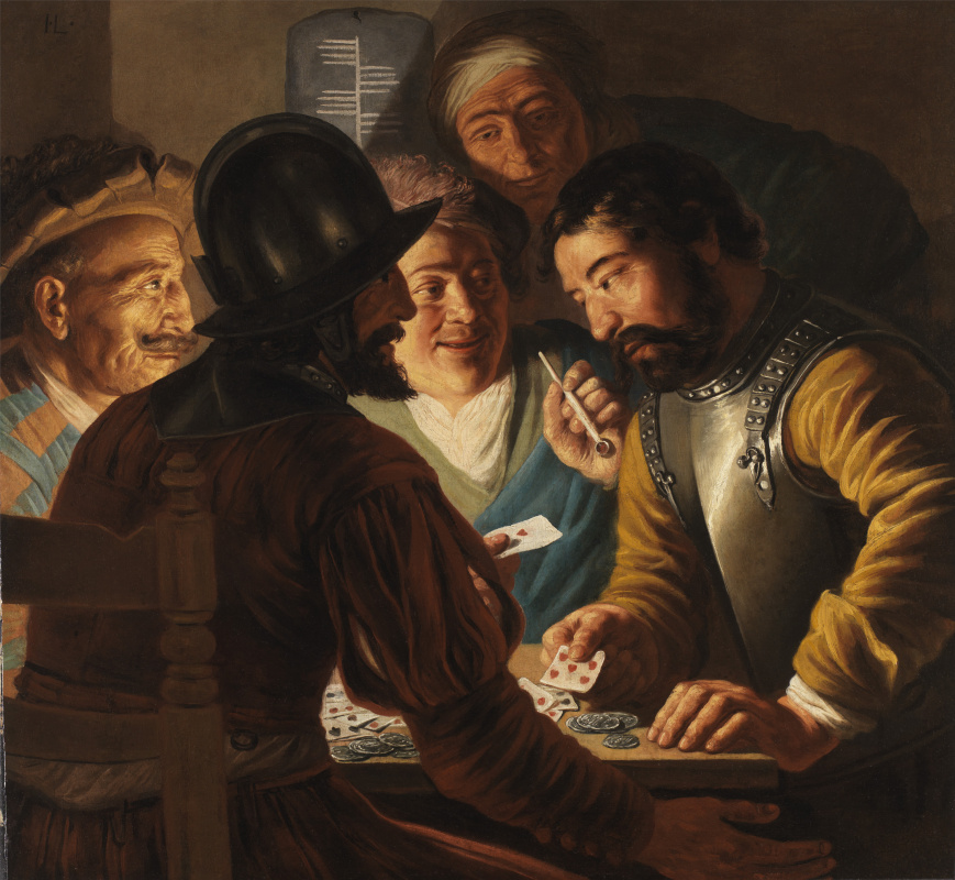 Jan Lievens. The card players
