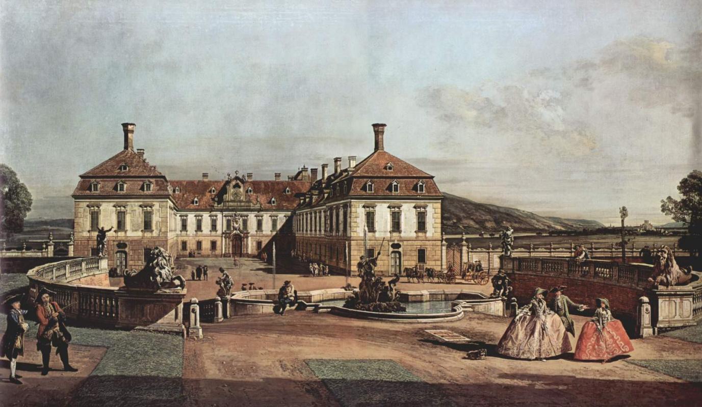 Джованни Антонио Каналь (Каналетто). Вид дворца с парадным двором в Вене