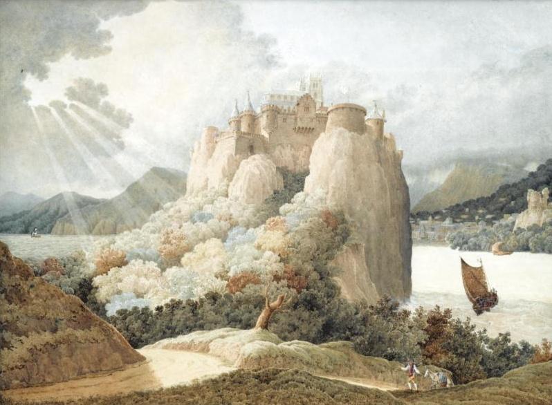 Ричард Дадд. Castle on the rock