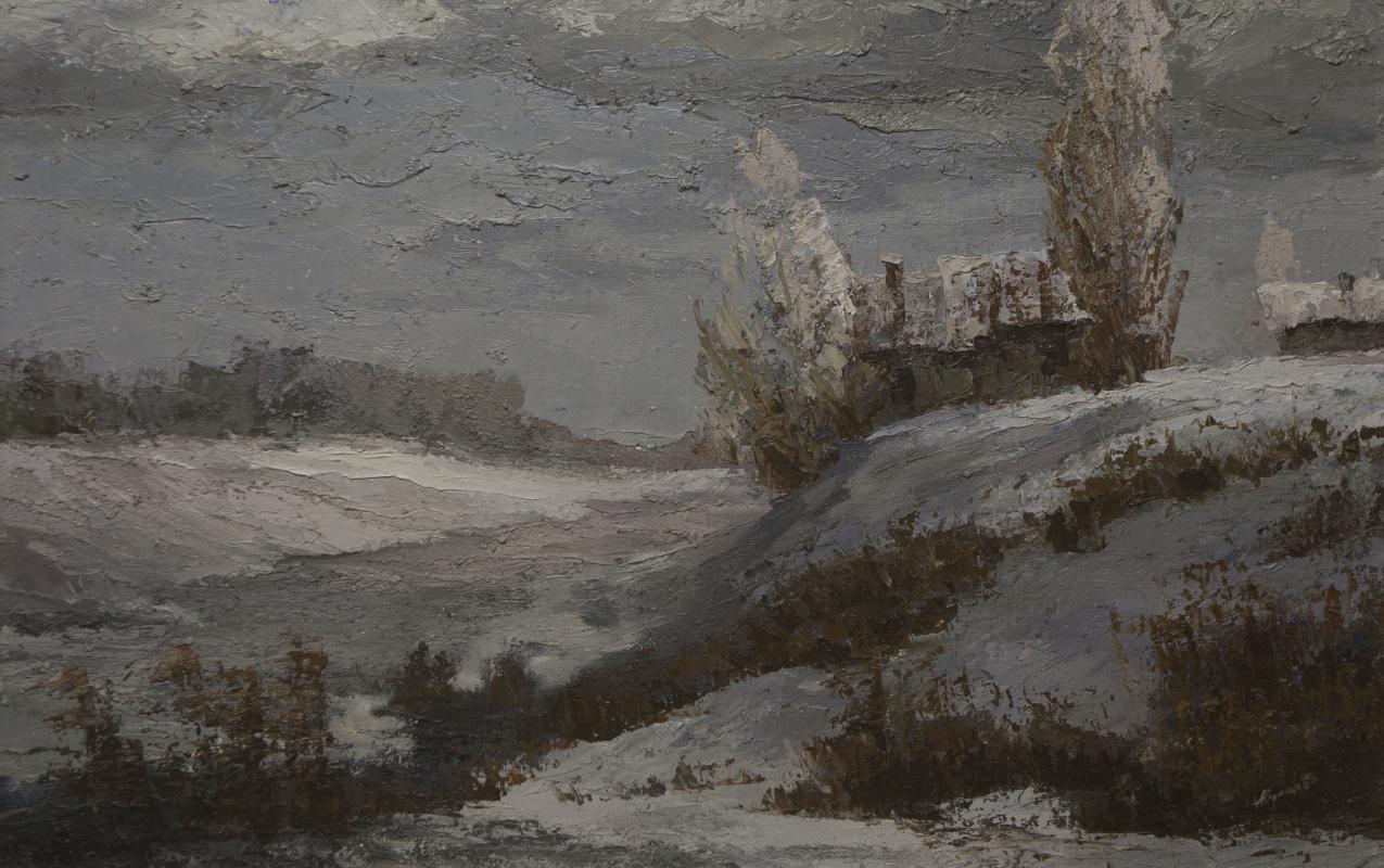 Alexander Vasilievich Yudintsev. Winter in the village