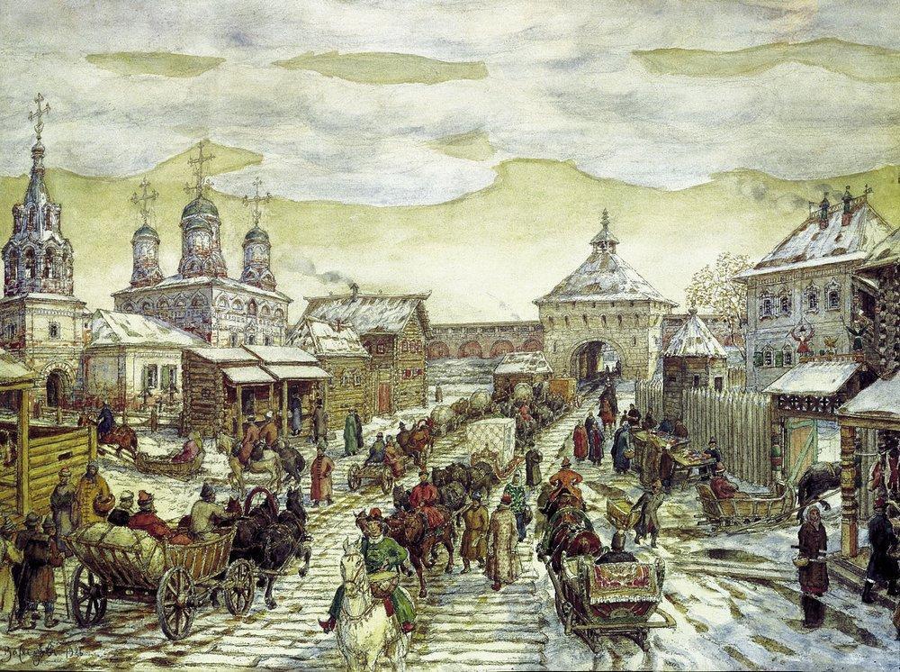 Аполлинарий Михайлович Васнецов. У Мясницких ворот Белого города