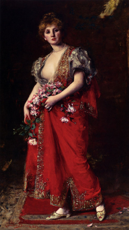 Carolus-Durand. Woman with red lips