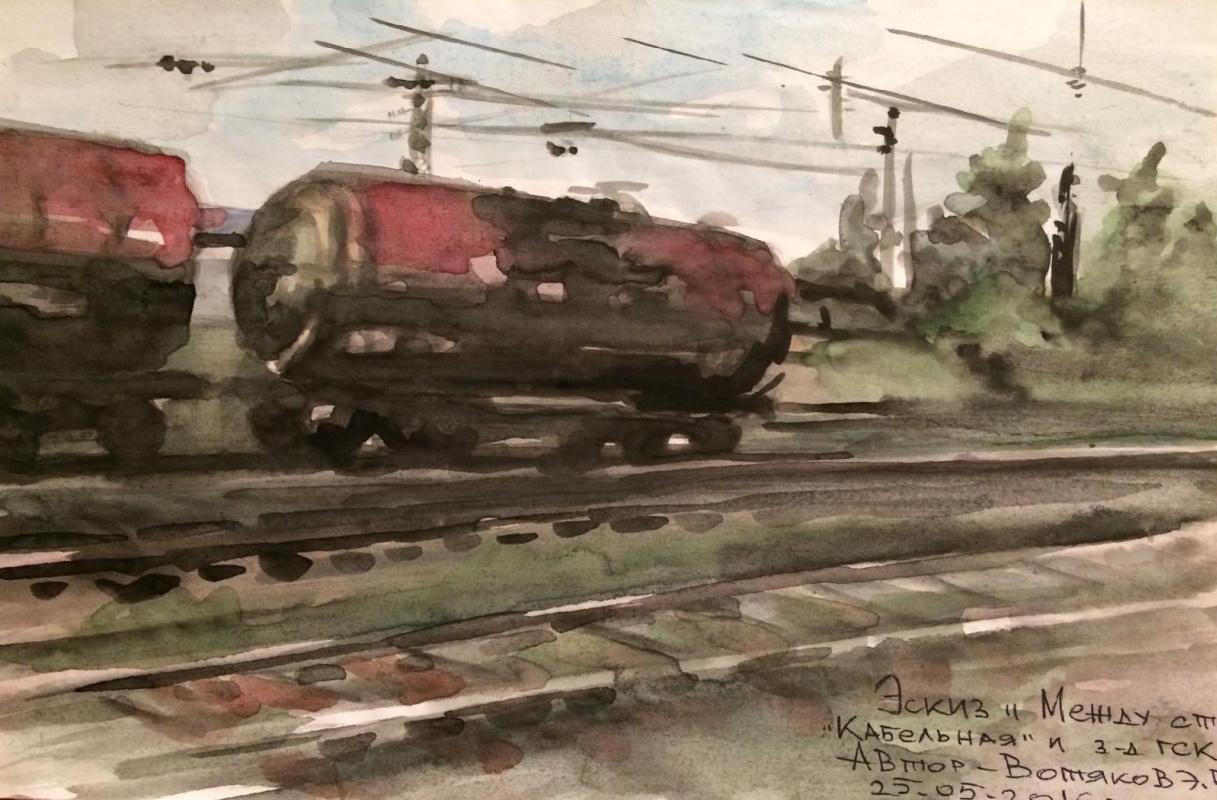"""Edward Rudolfovich Votyakov. At the station """"Cable."""""""