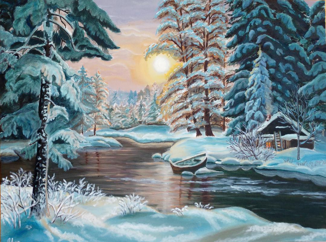 Margo Danilenko. Winter landscape