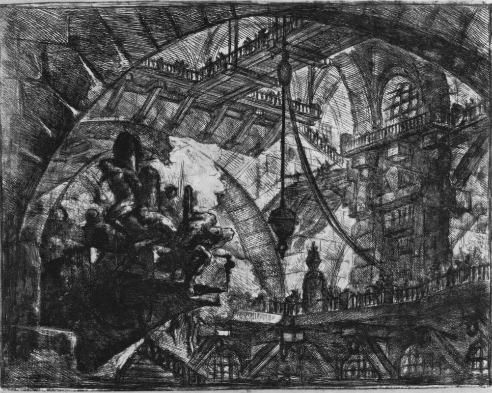 Джованни Баттиста Пиранези. Серия Тюрьмы, лист X, первое состояние