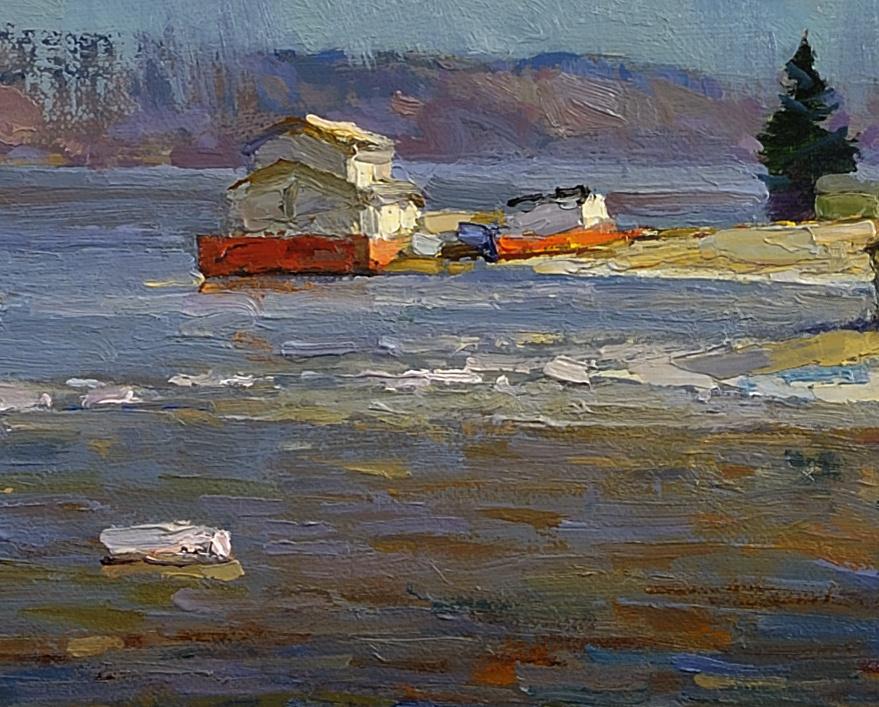 Ples, Volga spring. Oil on canvas 27.5 X 81 cm.