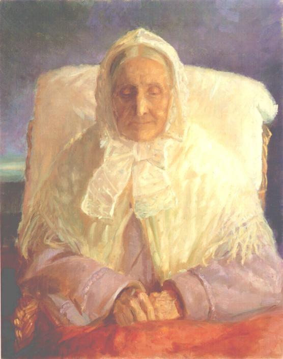 Анна Анкер. Портрет матери художницы