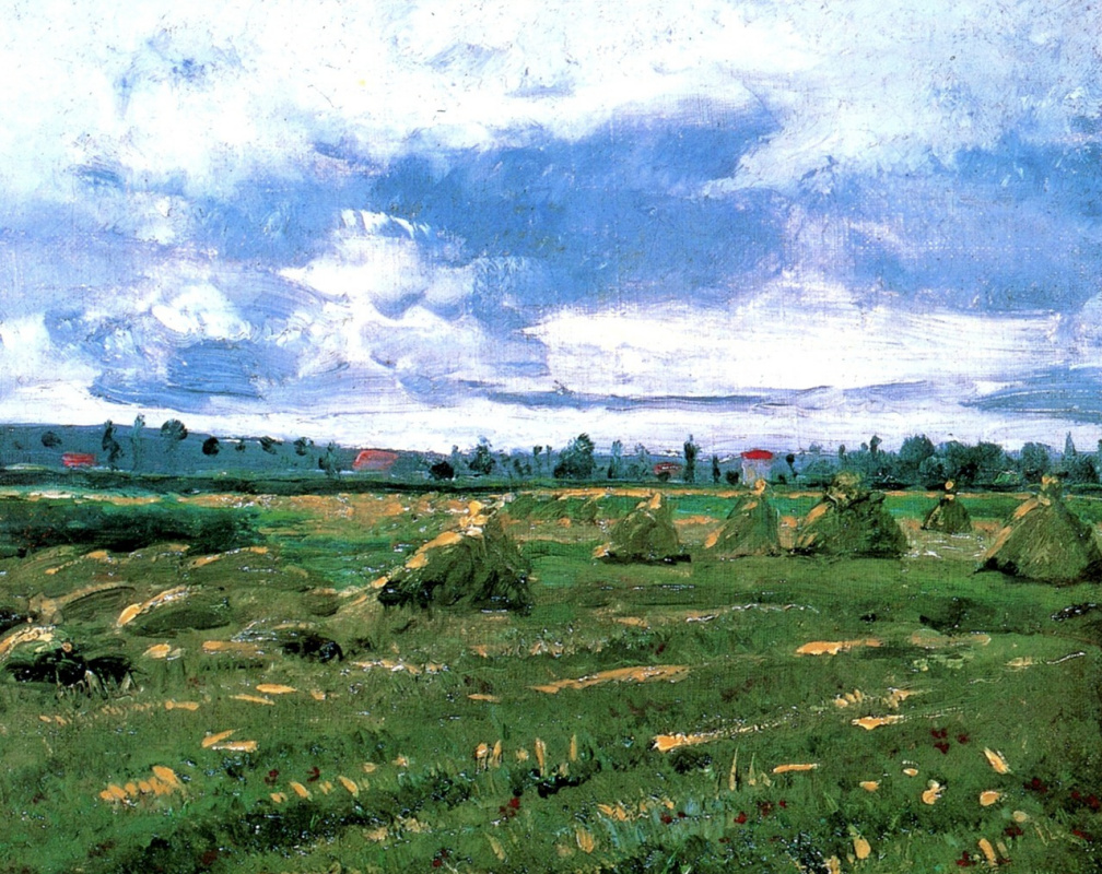 Vincent van Gogh. Wheat field with stacks