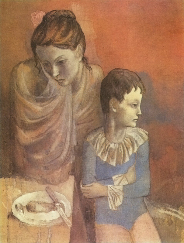 Pablo Picasso. A mother and child