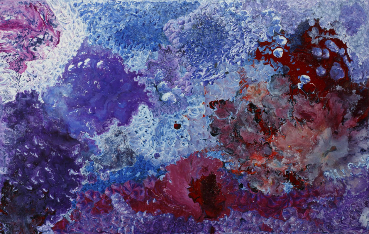 "Alla Struchayeva. Painting ""Galactic Storm"""