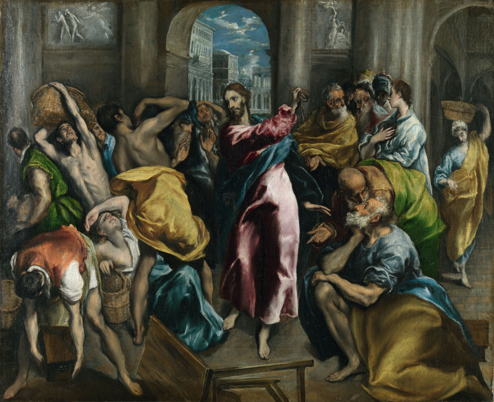 Domenico Theotokopoulos (El Greco). The expulsion of the merchants from the temple