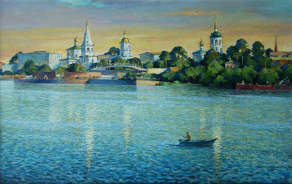 "Valery Petrovich Erofeevsky. ""From century to century"", 2002, oil on canvas, 62.5x100"