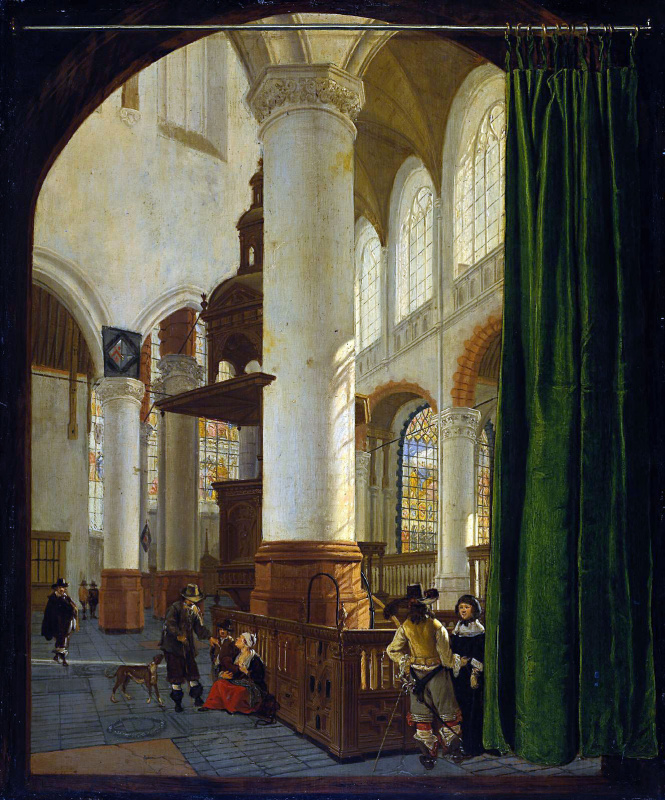 Геррит Хоукгист. Старая церковь в Делфте