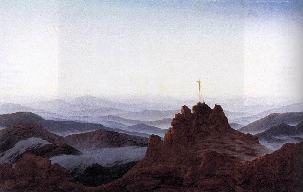 Caspar David Friedrich. Morning in the Sudeten mountains