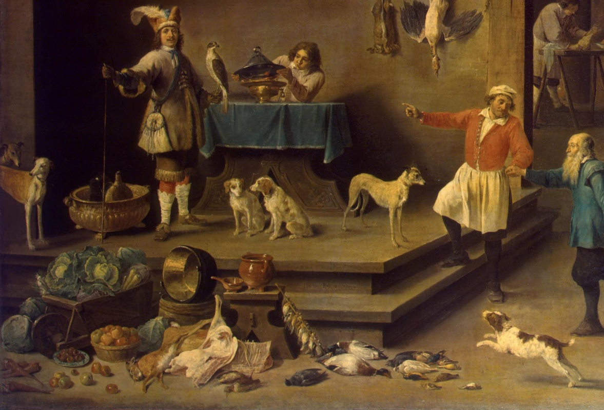 David Teniers the Younger. Kitchen. Fragment: Allegory of the Earth