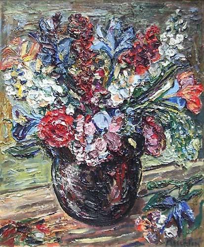 Альбин Амелин. Большой букет цветов