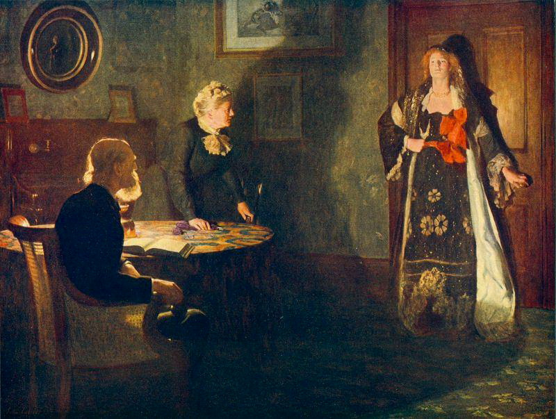 John Collier. The prodigal daughter