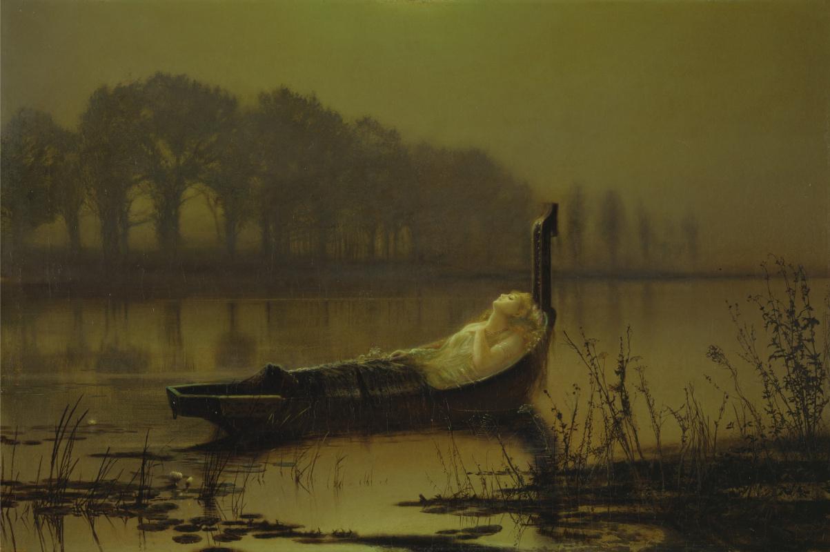 John Atkinson Grimshaw. Lady shallotte