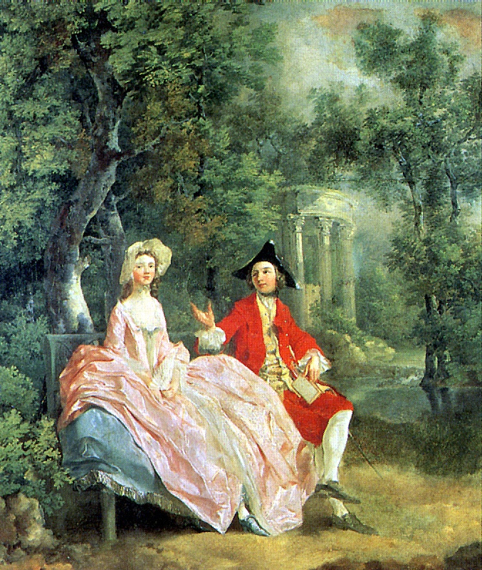 Томас Гейнсборо. Беседа в парке