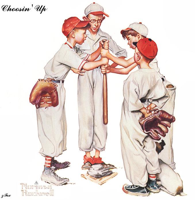 Норман Роквелл. Четыре чемпиона. Бейсбол