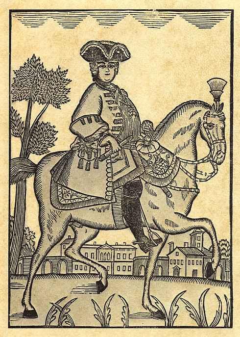 Иохан Рудольф Тиле. Граф Струнсе на коне