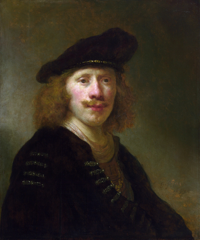 Gowert Flink. Self portrait at the age of 24 years