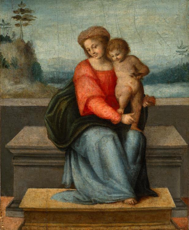 Франческо Убертини. Мадонна с младенцем