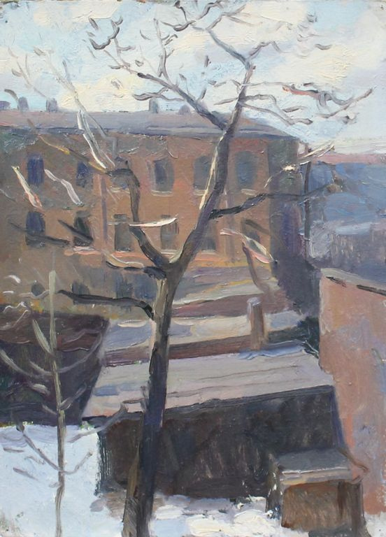 Andrey Sergeyevich Bantikov. View from the window