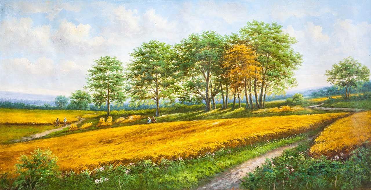 Alexander Romm. Wheat field. August