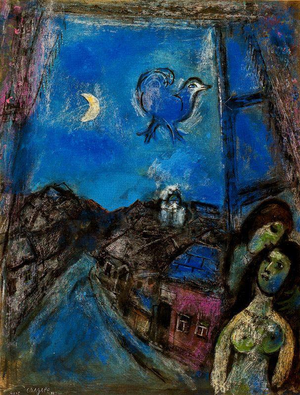 Марк Захарович Шагал. Вечер у окна