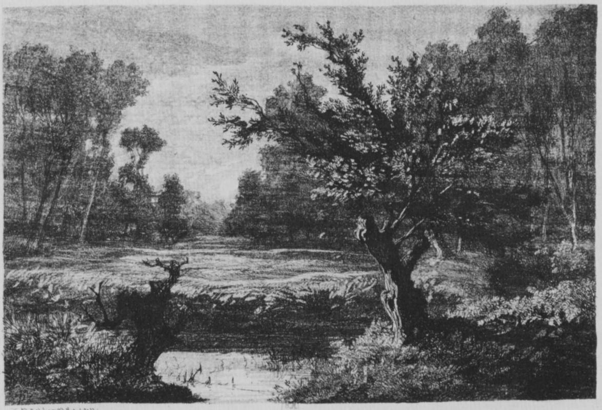Шарль-Франсуа Добиньи. Восход луны в долине Андийи